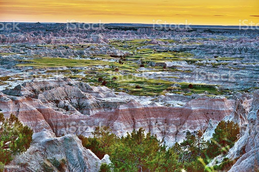 Scenic Badlands Landscape stock photo