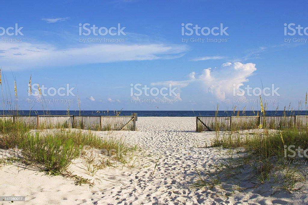 Scenic Beach Walk stock photo