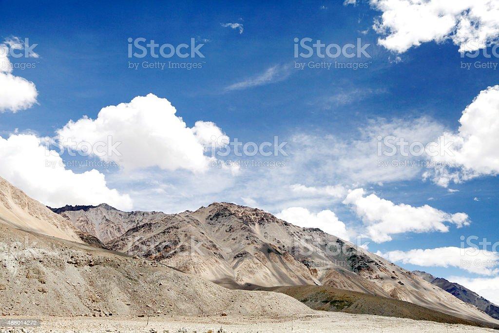 Scenic beauty of Ladakh, mountains of ultra mafic rocks stock photo