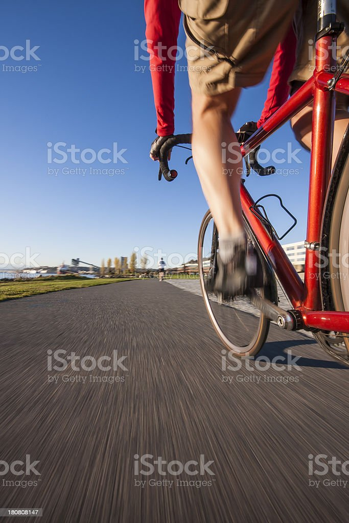 Scenic bike ride on a quiet path royalty-free stock photo