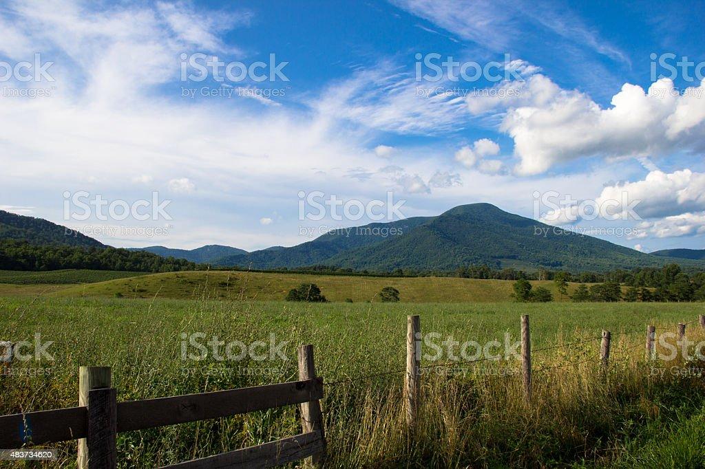 Scenic Blue Ridge Mountains stock photo