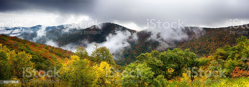 Scenic Blue Ridge Parkway Appalachians Smoky Mountains autumn La stock photo