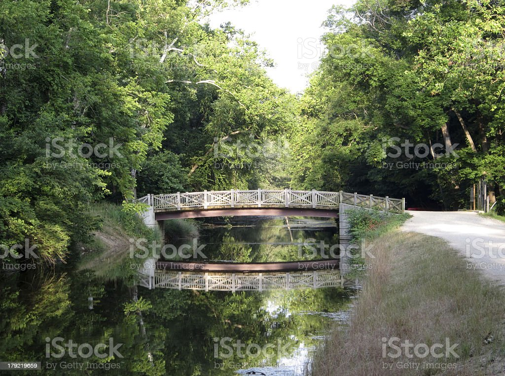 Scenic Bridge on the C&O Canal stock photo
