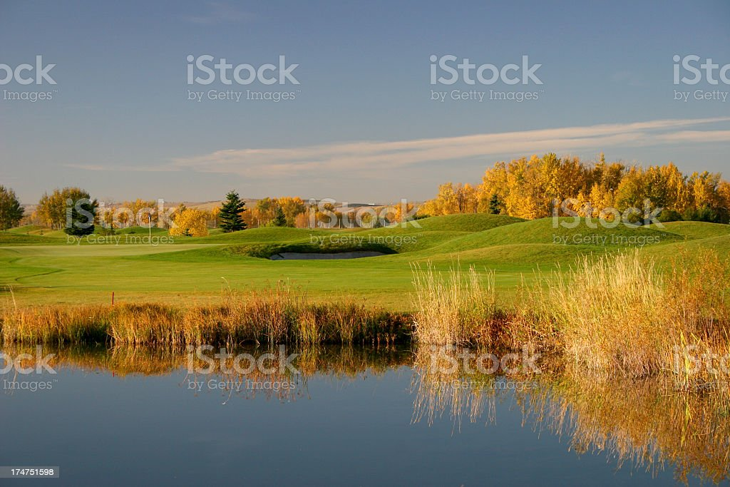 Scenic Calgary Golf Course in Fall stock photo