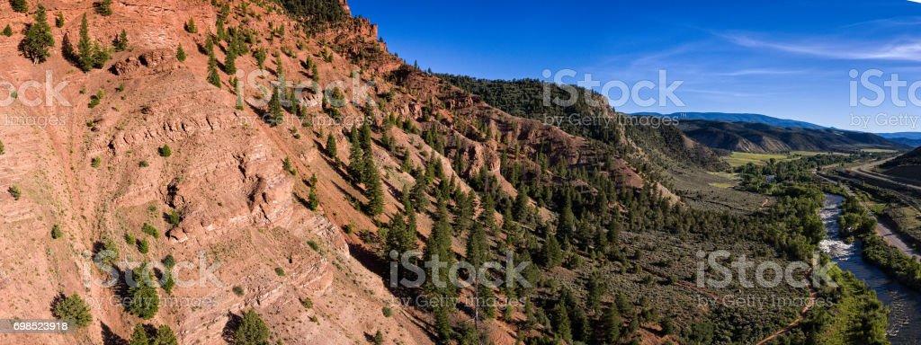 Scenic Canyon View Red Canyon Eagle Colorado stock photo