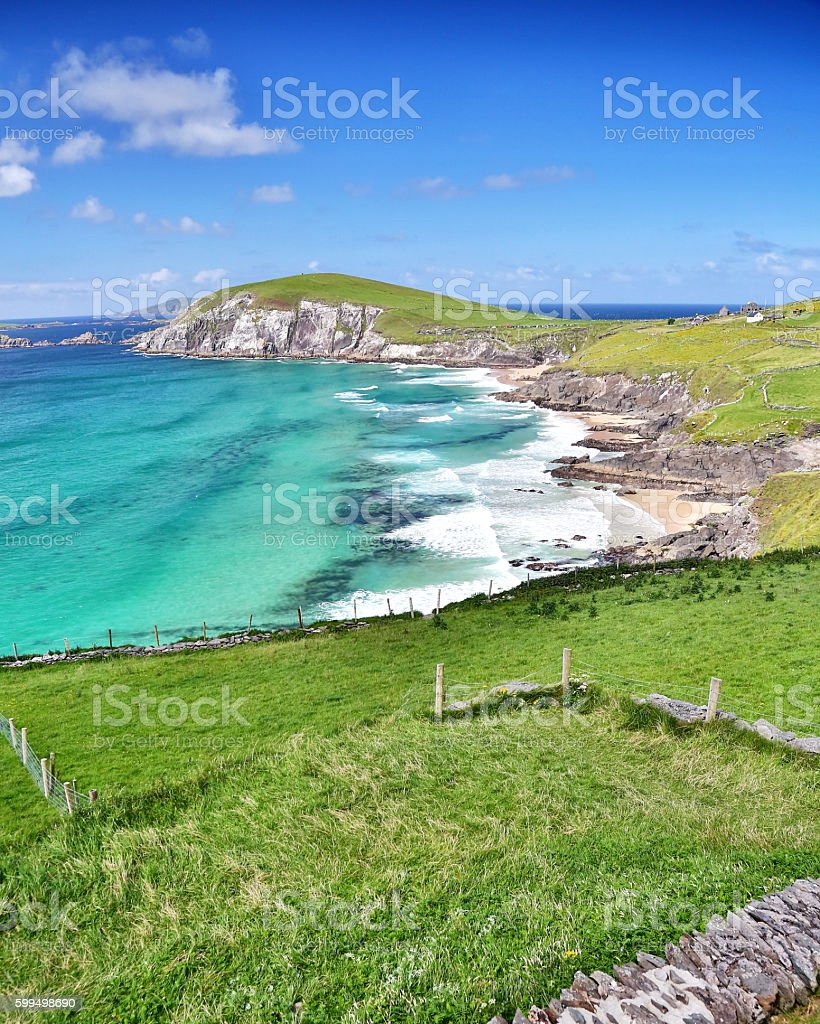 scenic coastline of Dingle Peninsula, Ireland stock photo