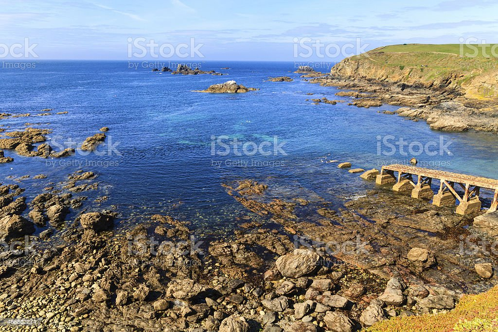 Scenic Cornwall, Lizard Point, southernmost area of the mainland UK stock photo