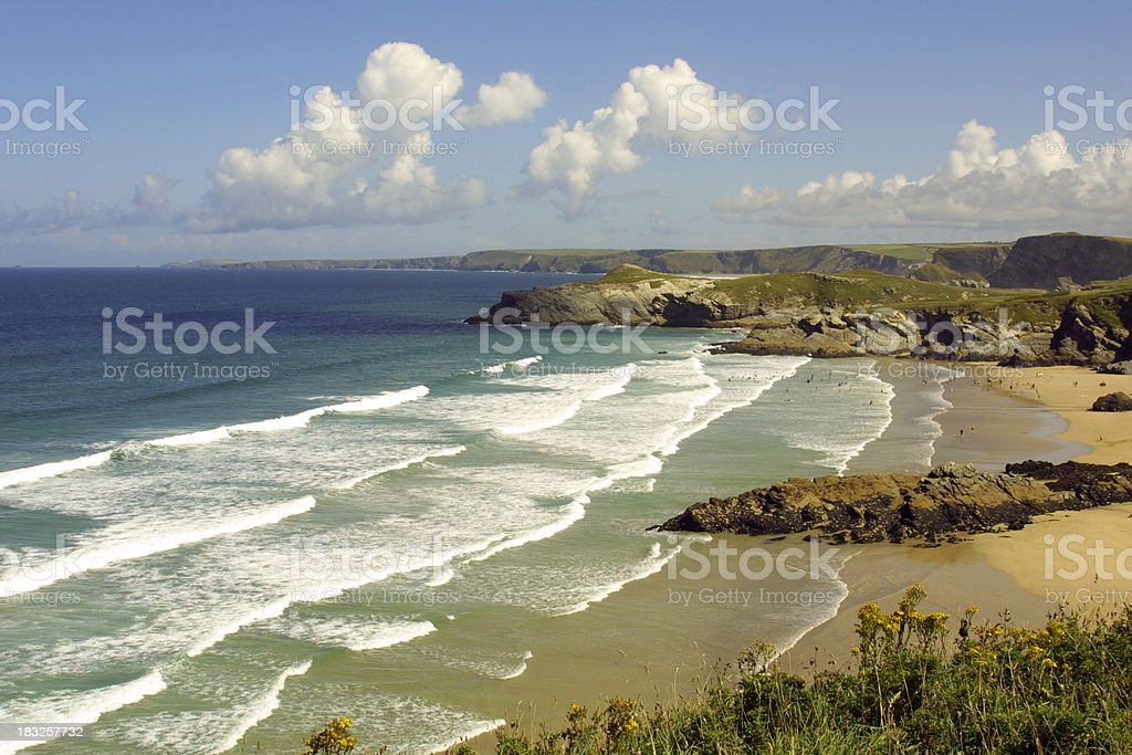 Scenic Cornwall - Newquay stock photo