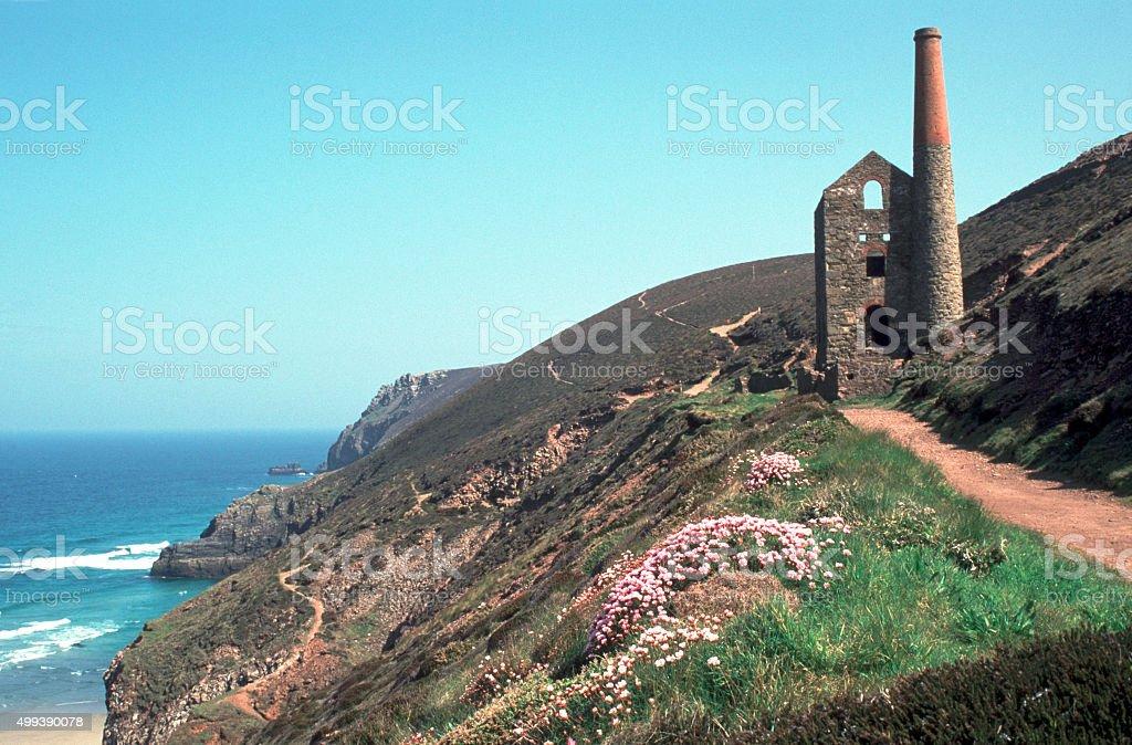 Scenic Cornwall, St Agnes Head stock photo
