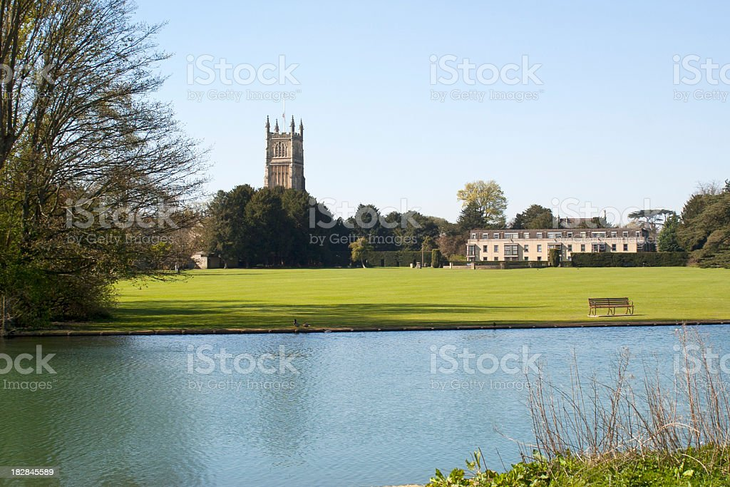 Scenic Cotswolds - Cirencester stock photo