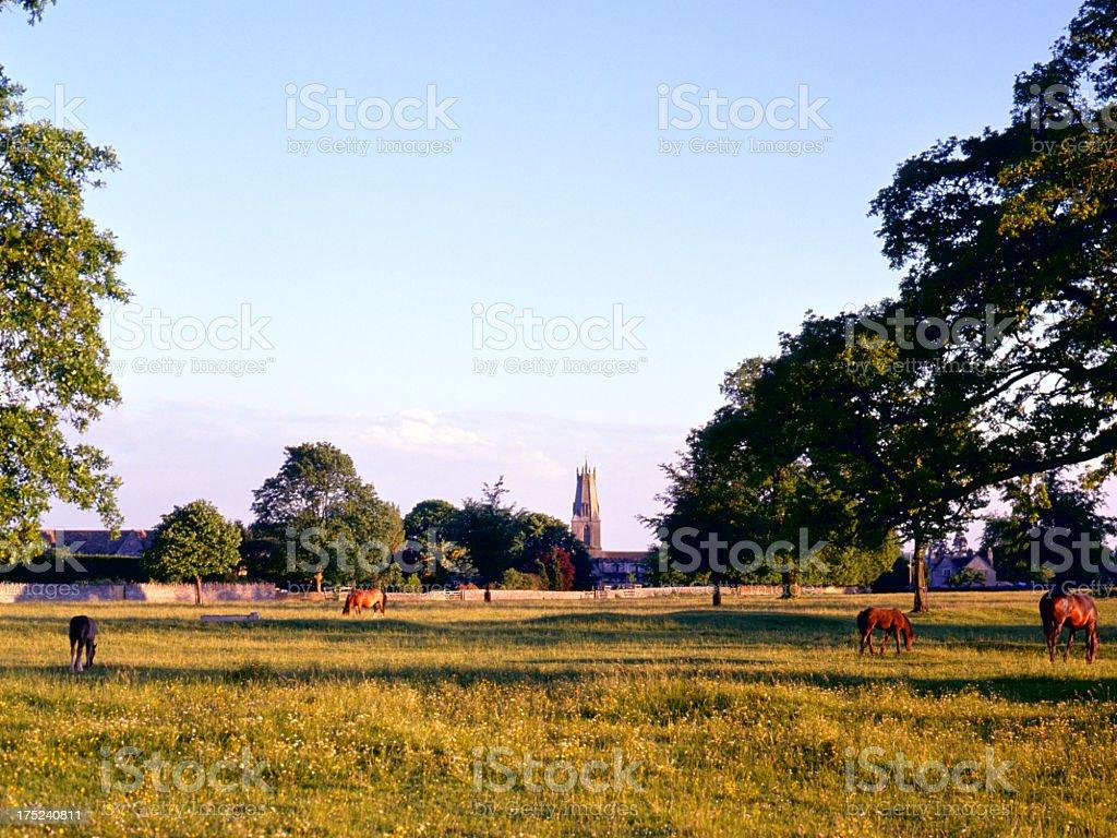 Scenic Cotswolds - Minchinhampton royalty-free stock photo