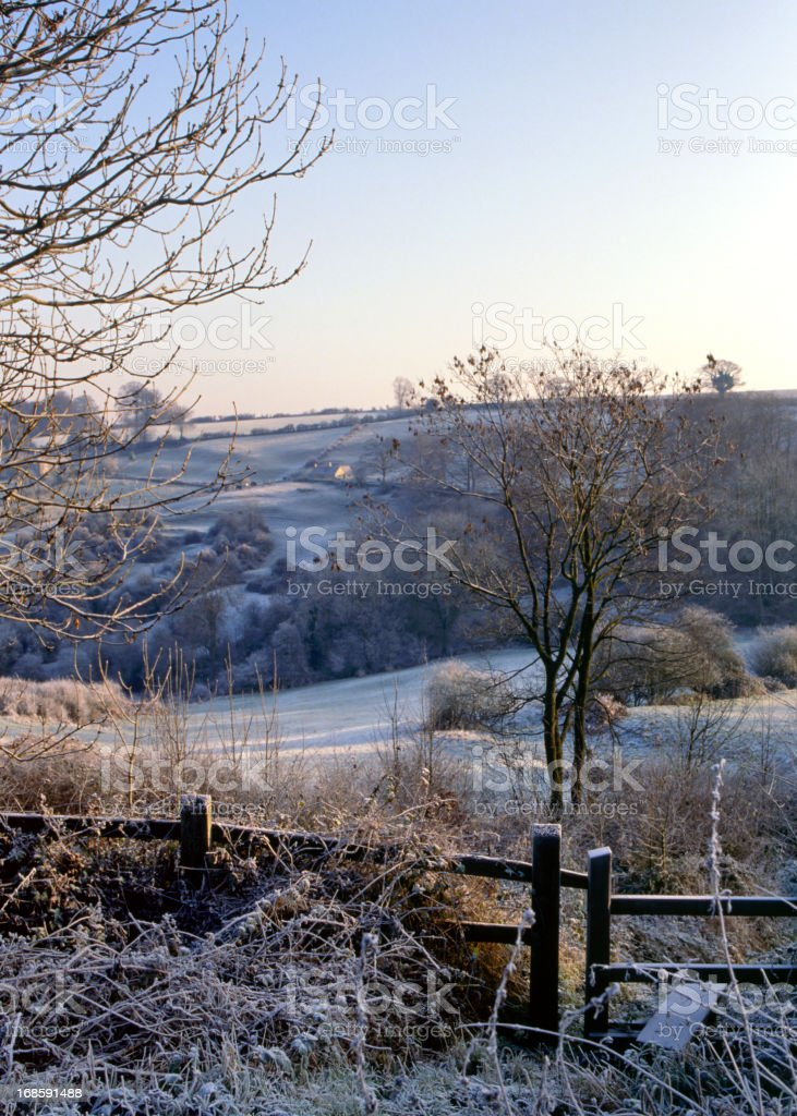 Scenic Cotswolds - Winter royalty-free stock photo