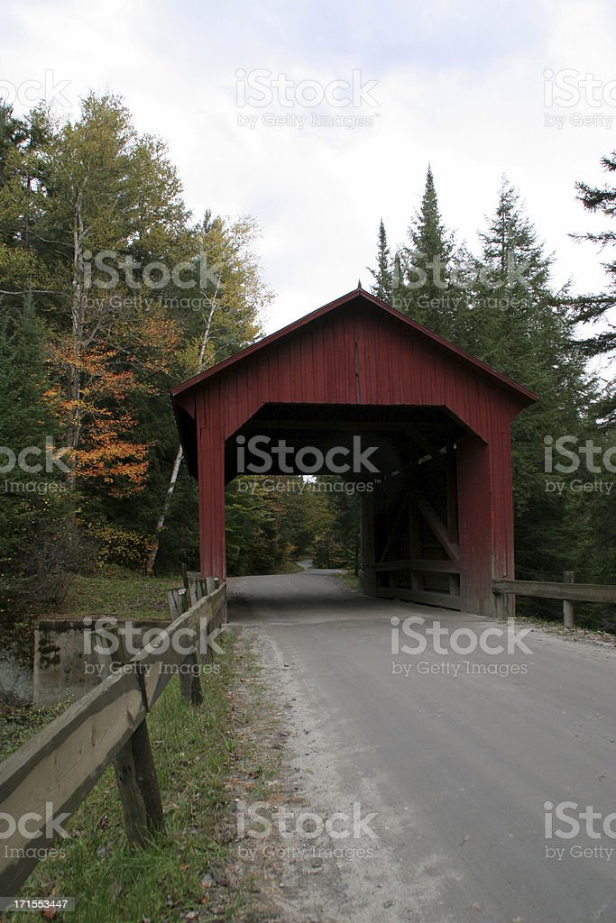Scenic Covered Bridge in Autumn royalty-free stock photo