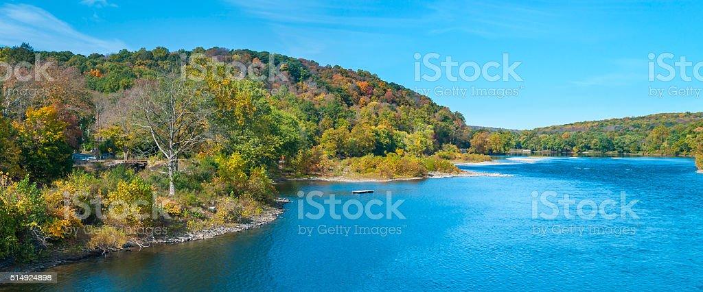 Scenic Delaware River Panorama stock photo