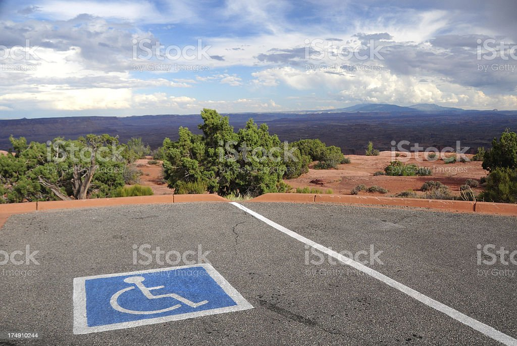 Scenic Disabled Parking stock photo
