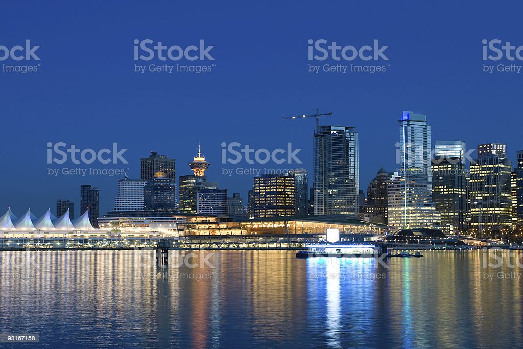 Scenic Downtown Vancouver stock photo