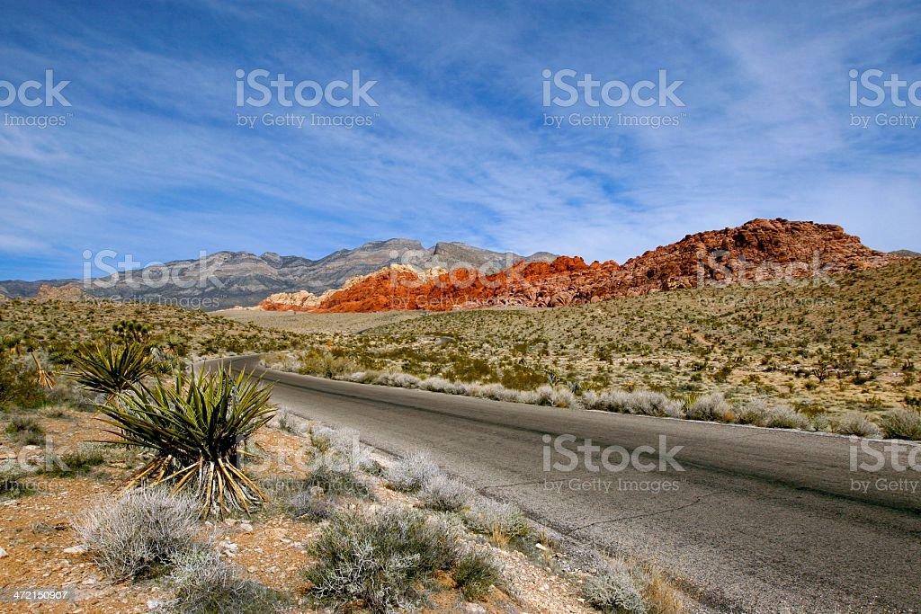 Scenic Drive Red Rocks stock photo