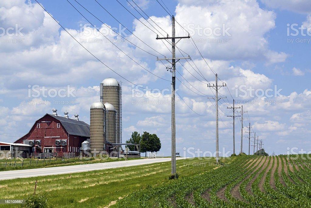 Scenic Farmland royalty-free stock photo