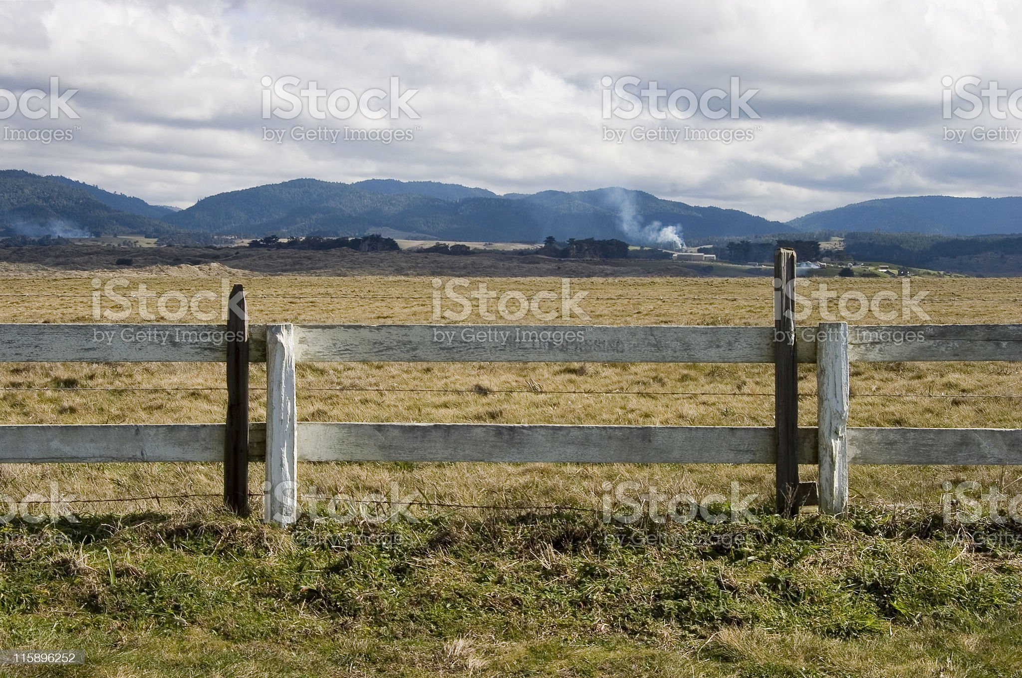 Scenic Fence royalty-free stock photo