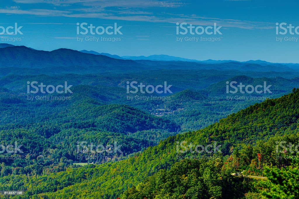 Scenic Foothills Parkway 101601 stock photo