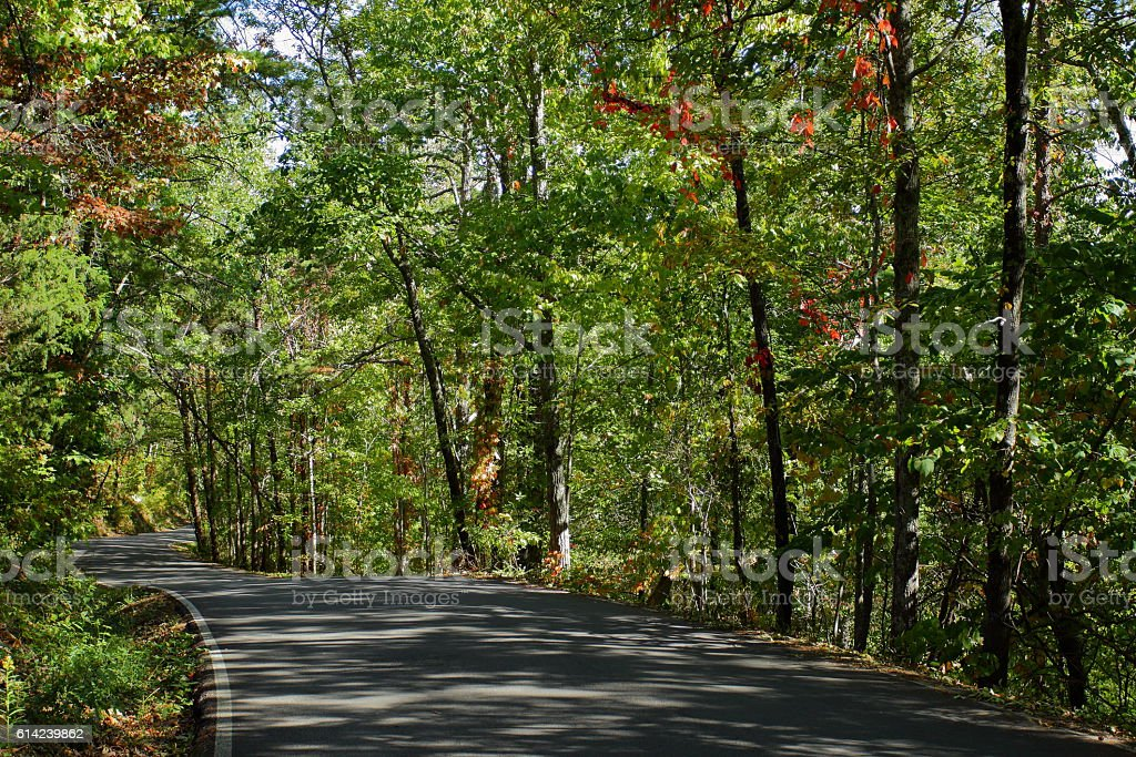 Scenic Foothills Parkway stock photo