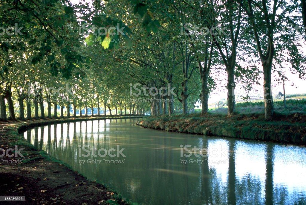 Scenic France - Canal du Midi royalty-free stock photo
