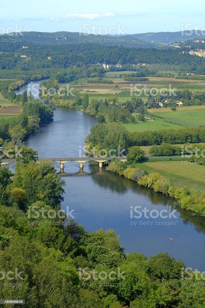 Scenic France - The Dordogne stock photo