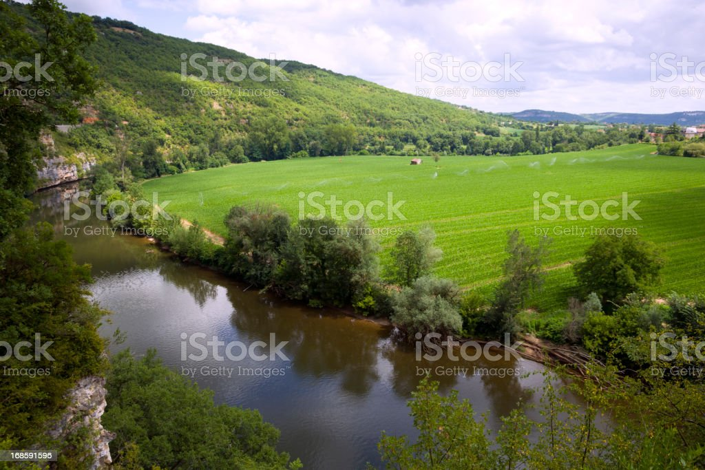 Scenic France - The Lot Valley stock photo