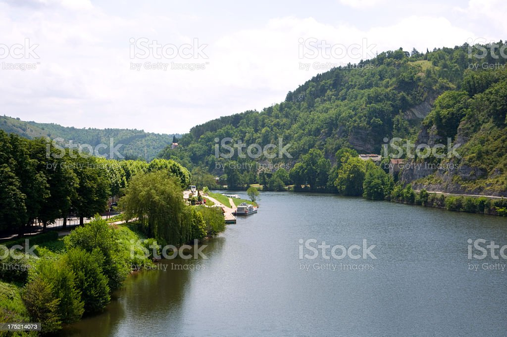 Scenic France - The River Lot stock photo