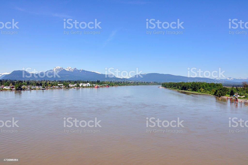 Scenic Fraser River stock photo