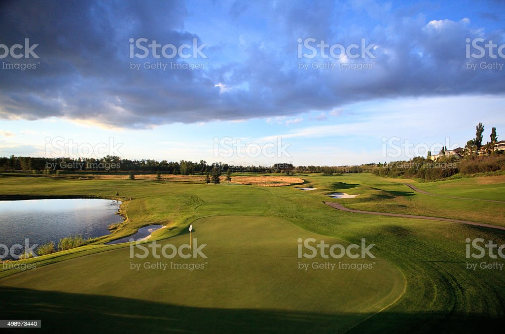 Scenic Golf Course in Summer stock photo