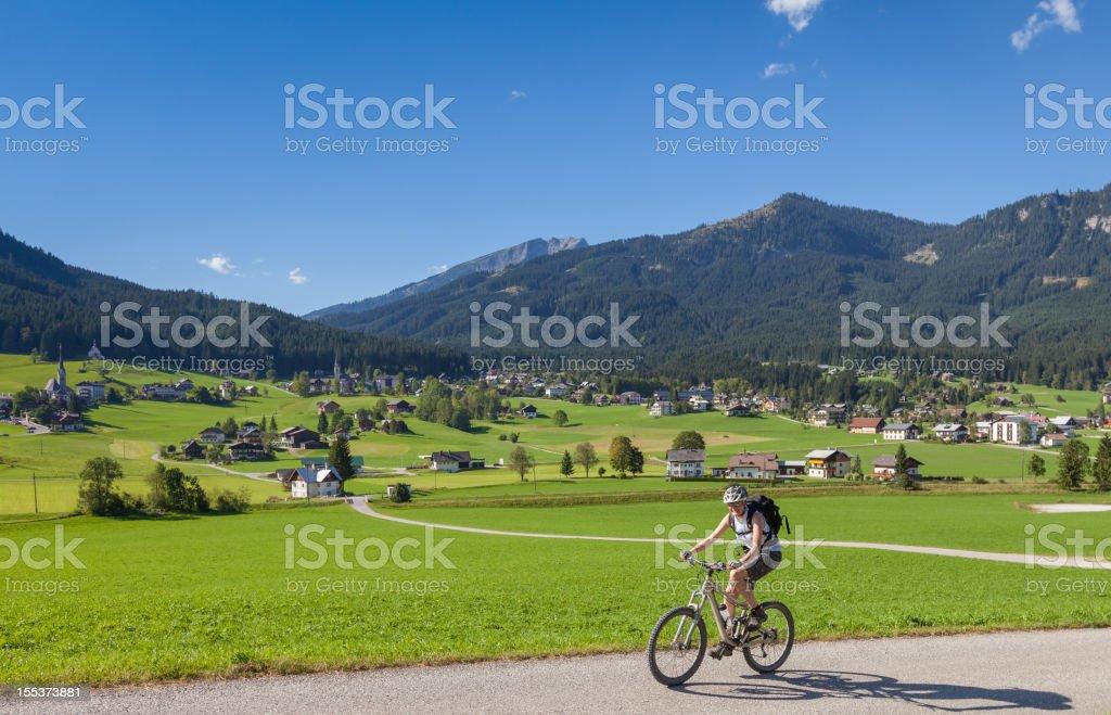 Scenic Gosau Biking, Austria royalty-free stock photo