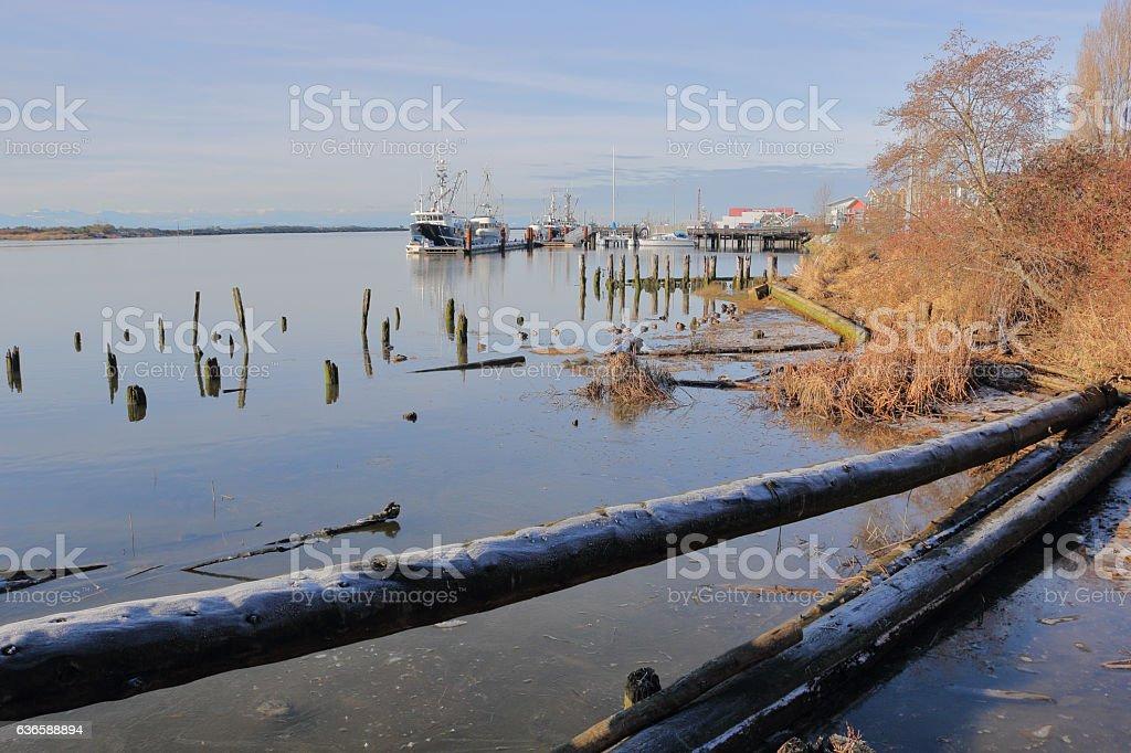 Scenic Harbor Front in Richmond, BC stock photo