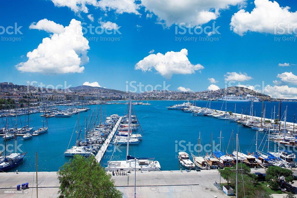 Scenic Harbour stock photo