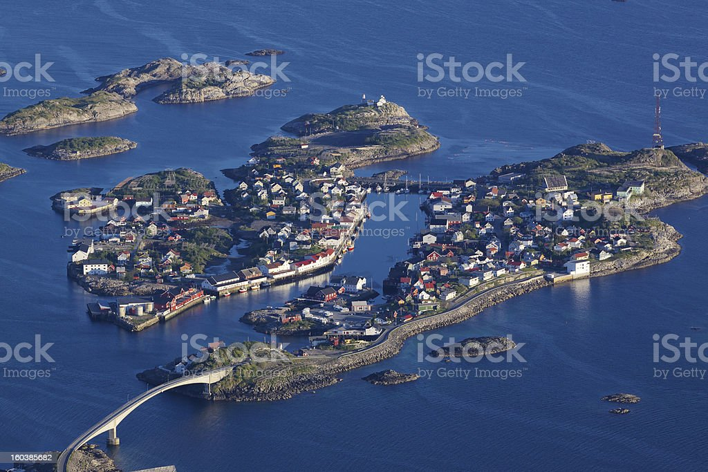Scenic Henningsvaer royalty-free stock photo