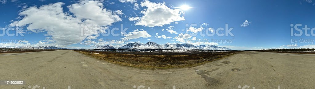 Scenic Highway in Alaska stock photo