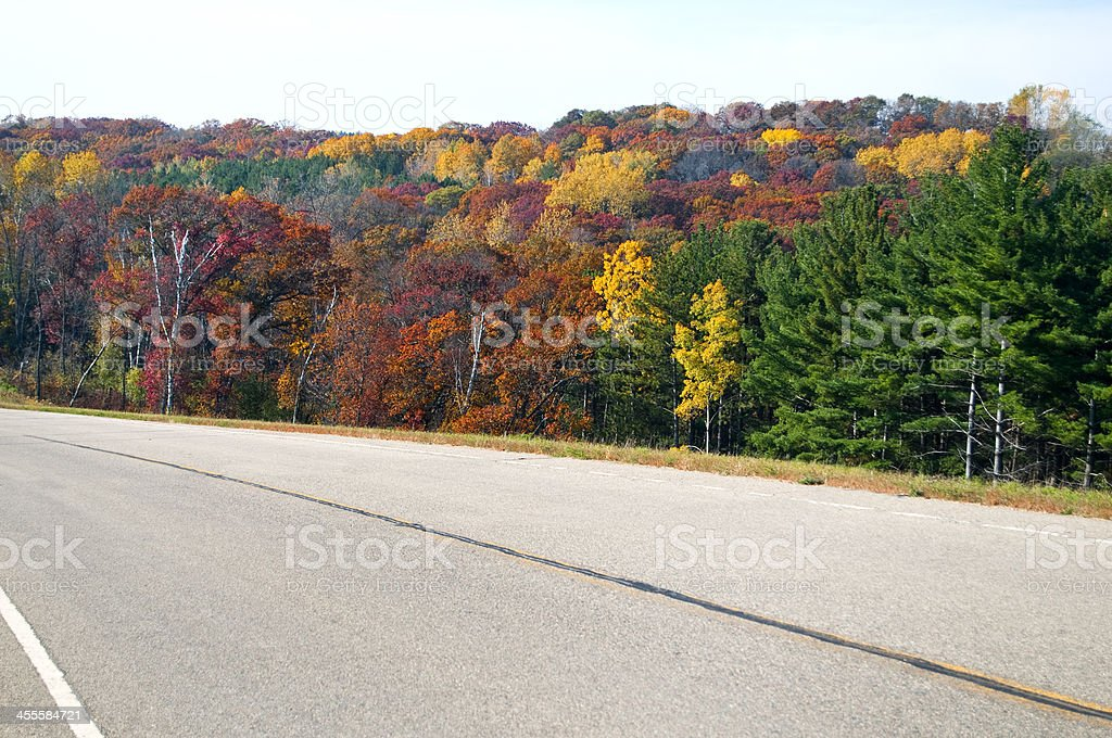 Scenic Highway in Autumn royalty-free stock photo