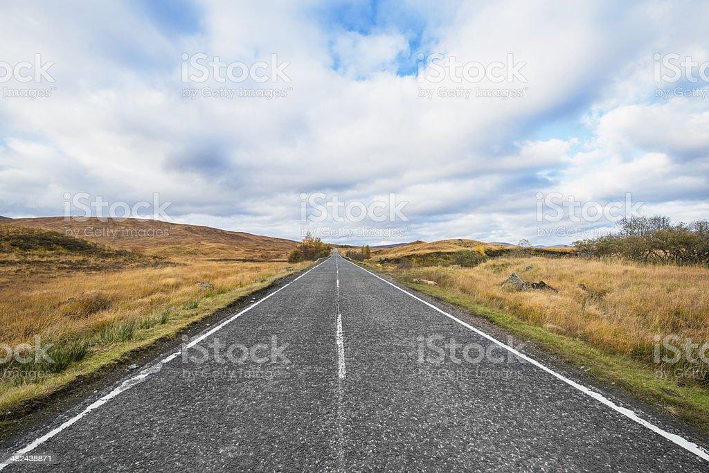 Scenic Highway in Glencoe Scotland stock photo