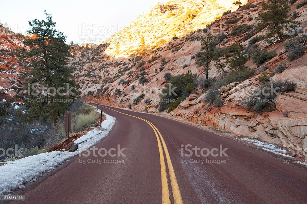 Scenic Highway in the Mountains stock photo