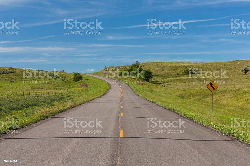 Scenic Highway stock photo