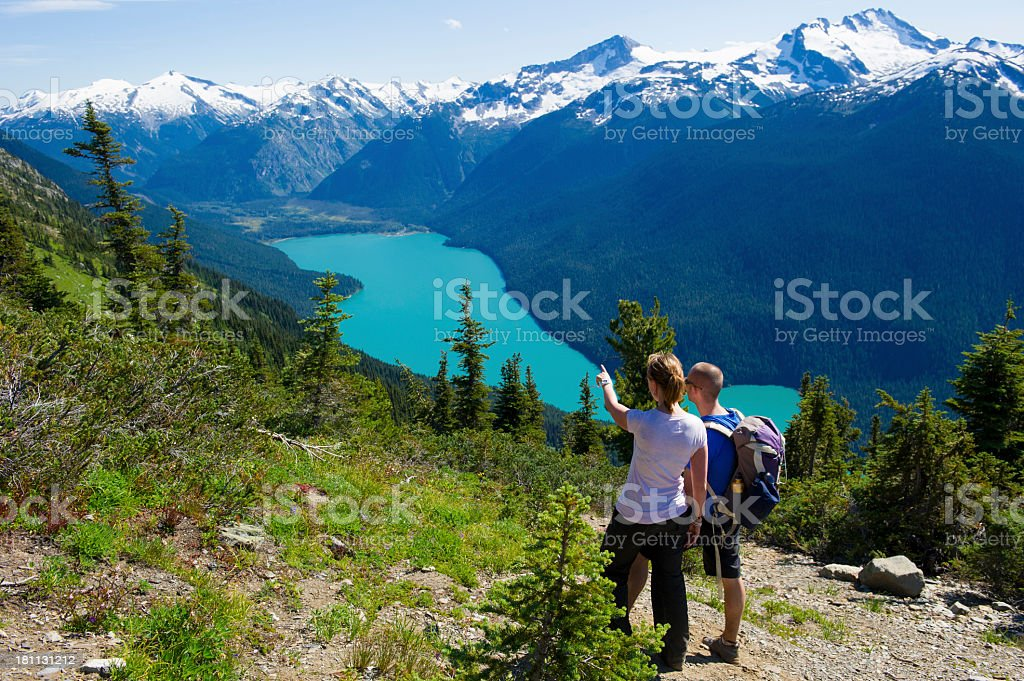 Scenic hike stock photo