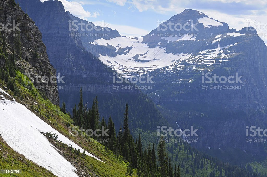 Scenic Hiking Traail in Glacier National Park royalty-free stock photo
