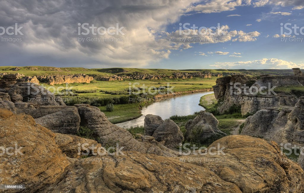 Scenic Hoodoos stock photo