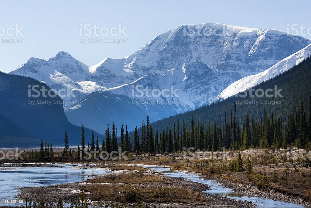 Scenic Icefield Parkway stock photo