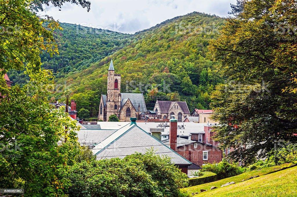Scenic Jim Thorpe Pennsylvania stock photo
