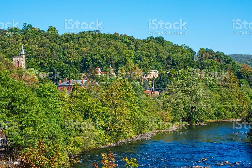 Scenic Jim Thorpe stock photo