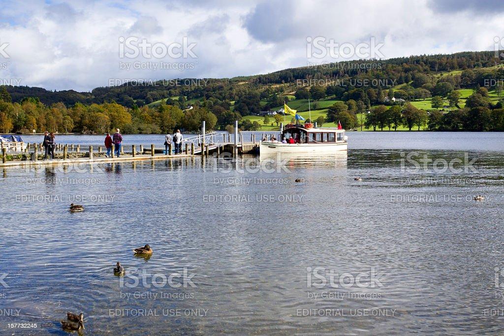 Scenic Lake District - Coniston stock photo