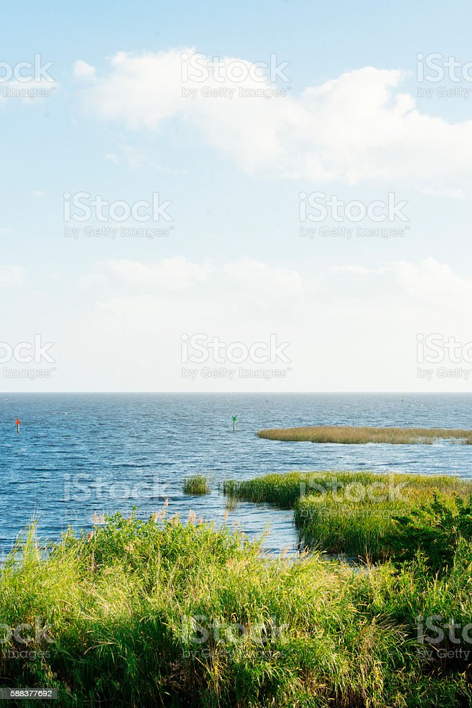 Scenic Lake Okeechobee Freshwater Florida Landscape USA Horizon stock photo