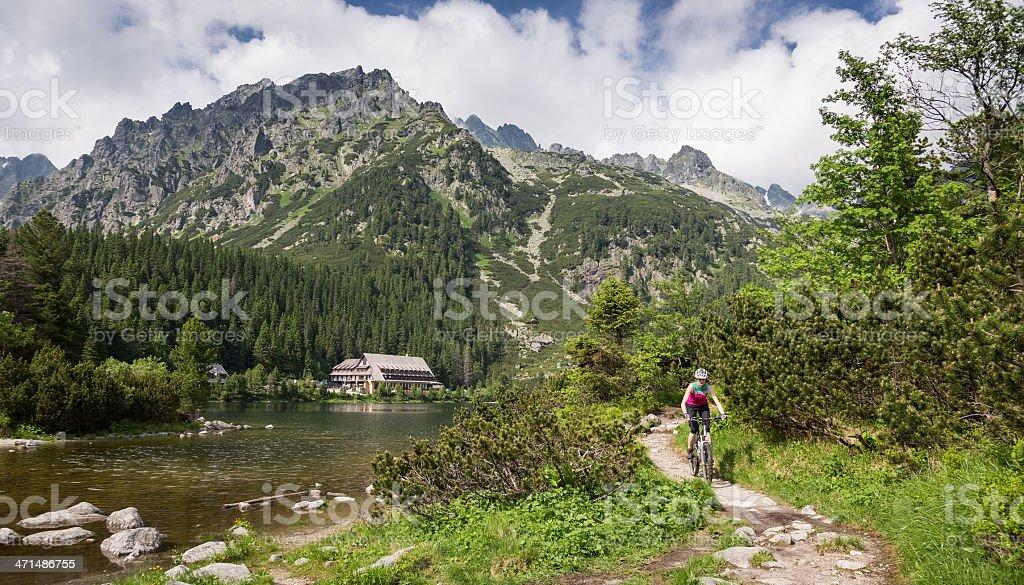 Scenic lake, Tatra Mountains stock photo
