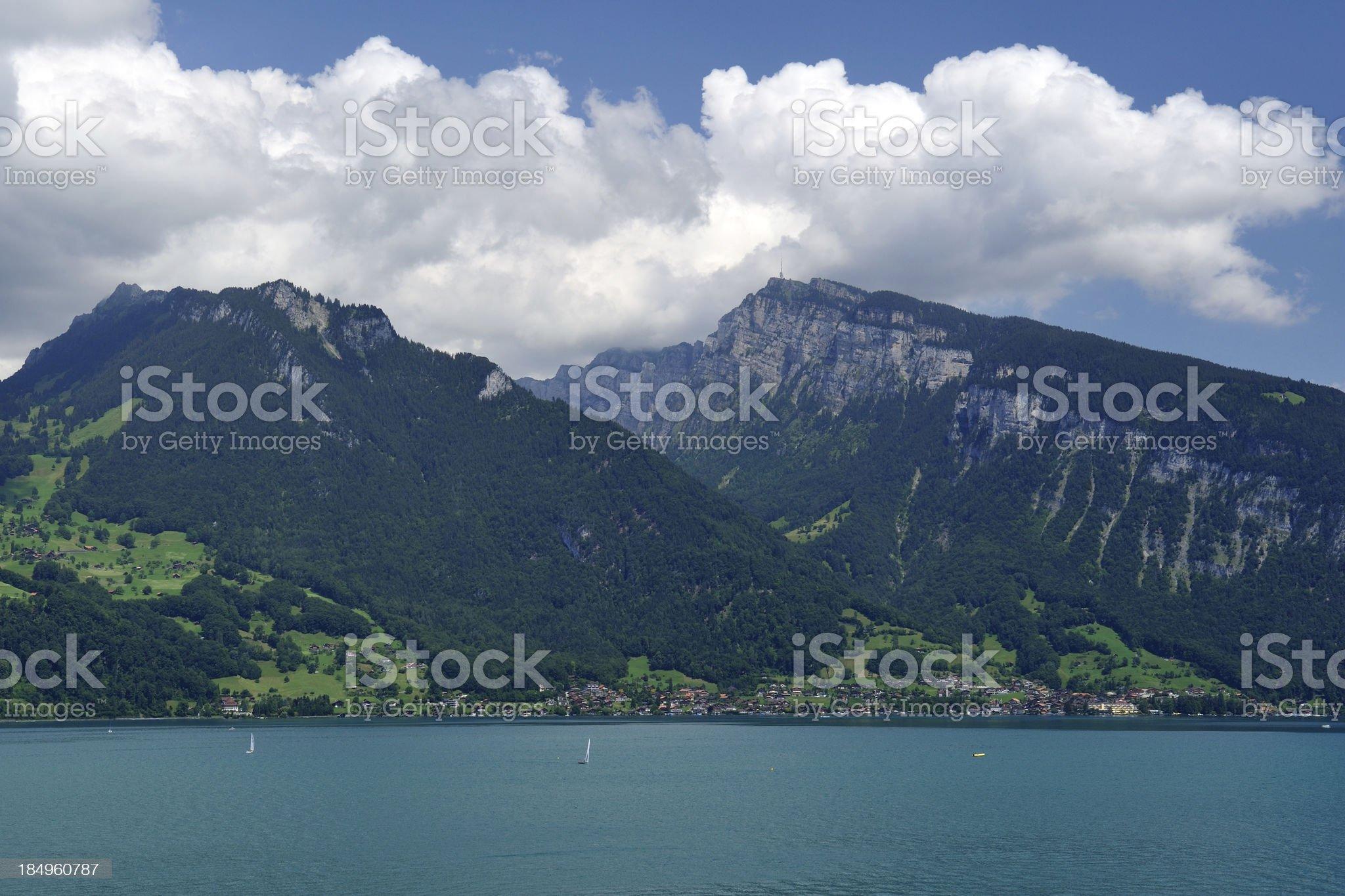 Scenic Lake Thun in Switzerland royalty-free stock photo